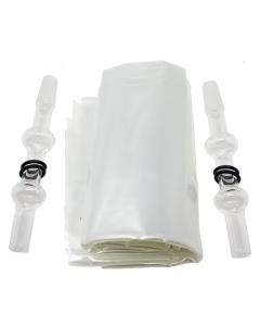 Az Arizer Ballon csomag üveg szájszipkával minden, amire szüksége van, amikor szeretné lecserélni az eredetileg mellékelt ballonokat.