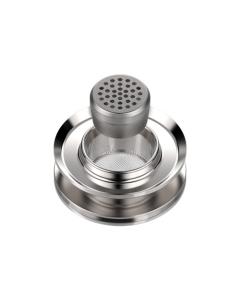 Az Adagoló kapszula adapter Volcano vaporizerekhez használható, amikor szeretné redukálni a kamra méretét vagy Adagoló kapszula beillesztésére